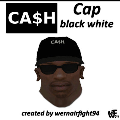 Cash Cap Black White