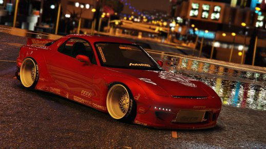 Mazda RX7 Rocket Bunny [Add-On / Replace +Template]