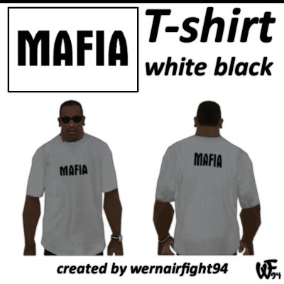 Mafia T-Shirt White Black