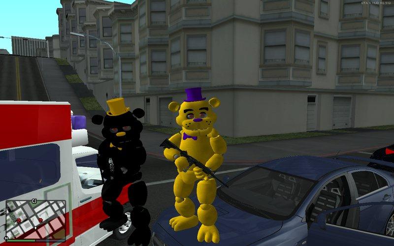 GTA San Andreas FNAF 4 Fredbear and Nightmare Mod - GTAinside com