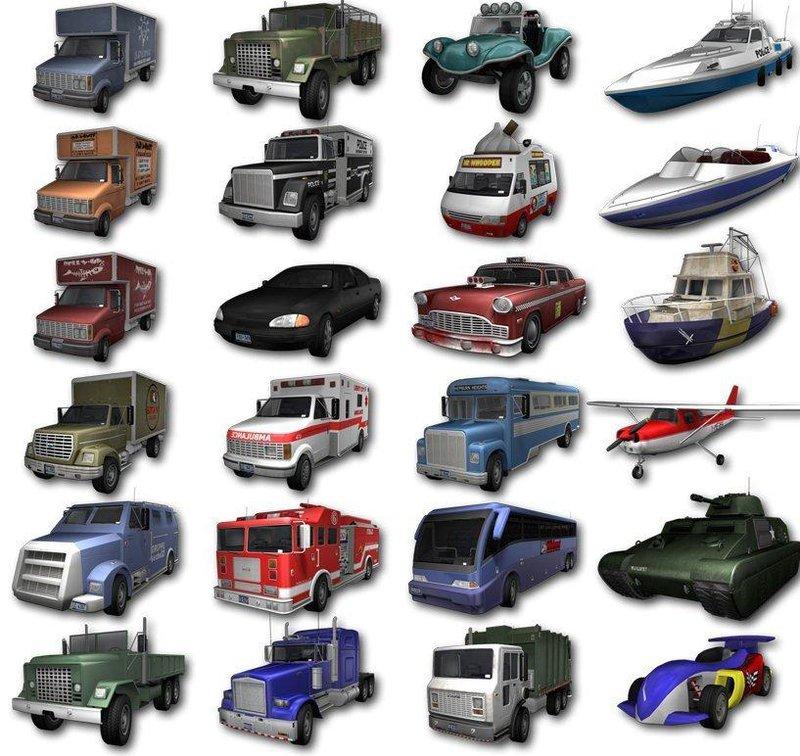 Gta 4 Vehicles Img For Backup Mod: GTA 3 Re-textured HD Vehicles Mod