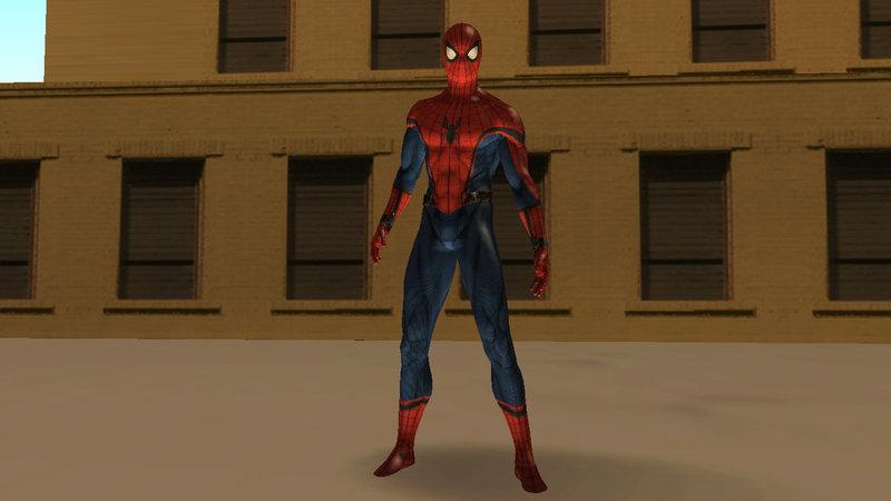 Gta sa скачать скин spider man