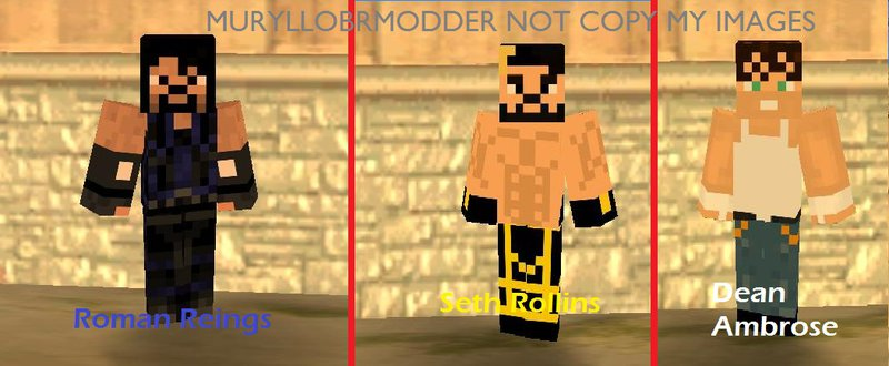 Gta Vice City New Skins In Minecraft Minecraft Service Blog - Skin para minecraft pe wwe