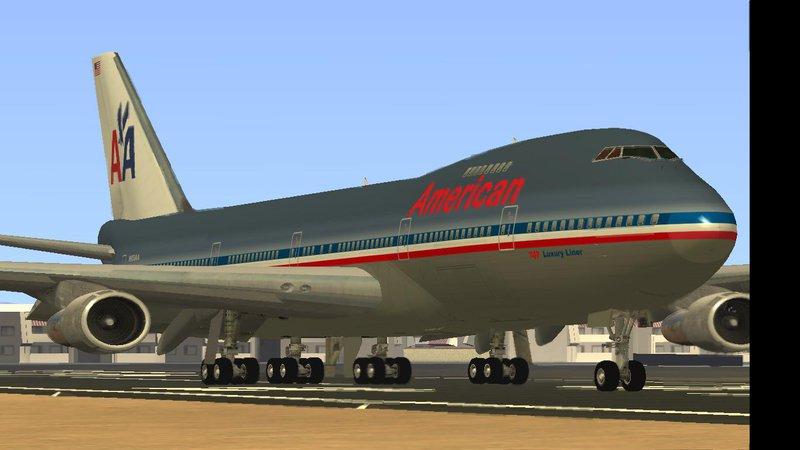 Gta San Andreas Boeing 747 200 American Airlines Mod