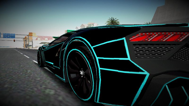 Tron Paint Job Car