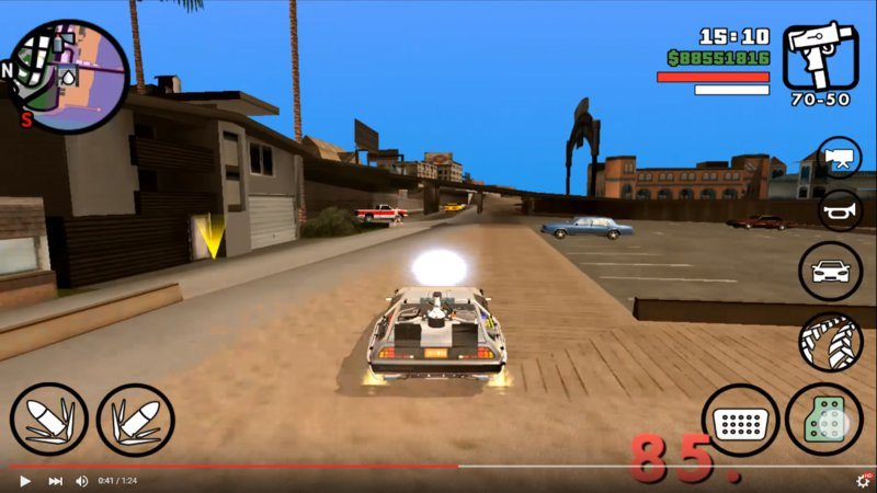 GTA San Andreas Back To the Future Mod Pack for Android V1 0