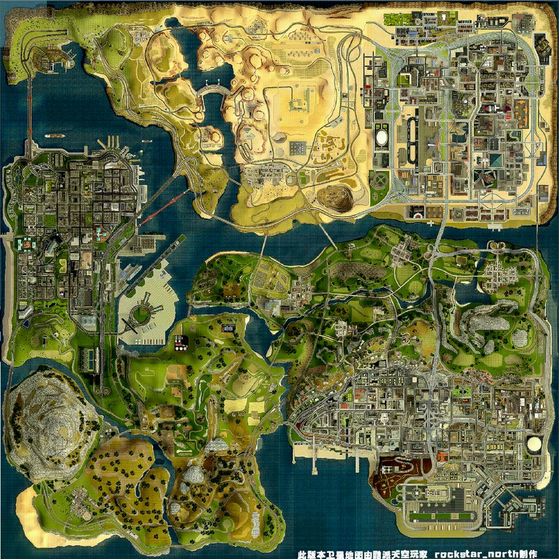 GTA San Andreas HD Satellite Map Mod  GTAinsidecom