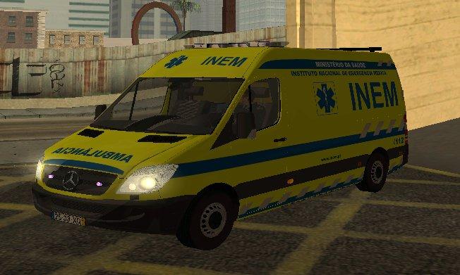 GTA San Andreas Mercedes-Benz Sprinter INEM Ambulance