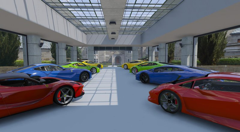 Gta 5 8 car garage showroom mod for 8 car garage plans