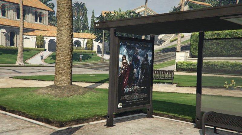 gta 5 bus stop movie poster pack mod gtainsidecom