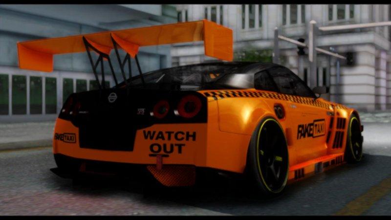 GTA San Andreas Nissan GTR Fake Taxi Mod - GTAinside com