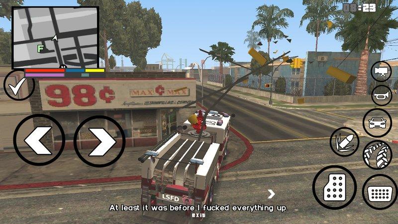 GTA San Andreas GTA V Fire Truck for Android Mod - GTAinside com