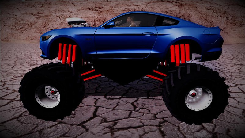 Mustang Gt 0 60 >> GTA San Andreas 2015 Ford Mustang GT Monster Truck Mod ...