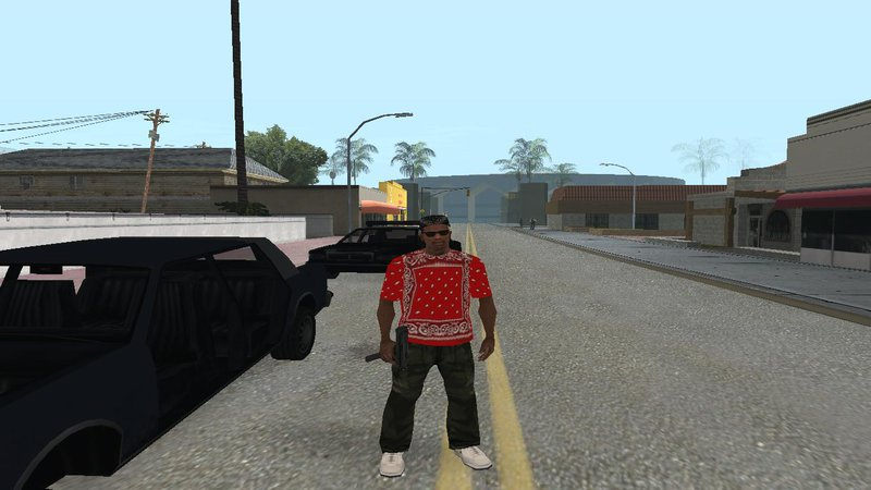 Red Rag Bloods: GTA San Andreas Red Rag Gang T-Shirt Mod