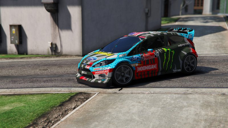 gta 5 ford fiesta ken block mod. Black Bedroom Furniture Sets. Home Design Ideas