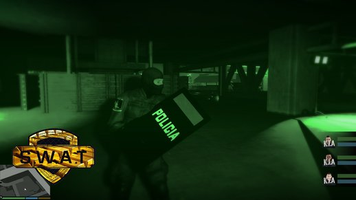 GTA 5 Riot Shield + PT SWAT