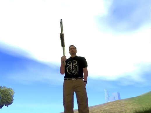 Steve Haines From GTA V , With Roman Reings T-Shirt MOD