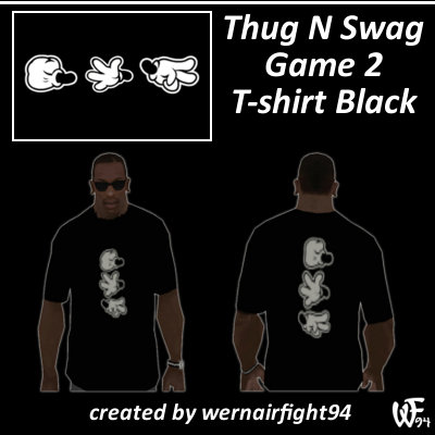 Thug N Swag Game 2 T-Shirt Black