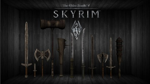 Skyrim Lore Friendly Iron Weapon Pack