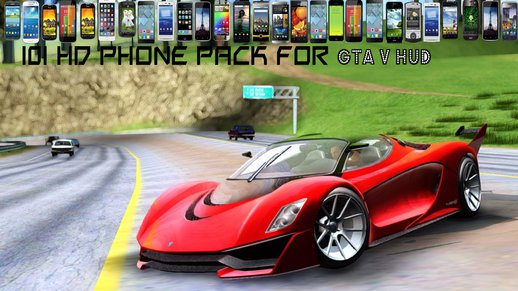 101 HD Phone pack for GTA V HUD