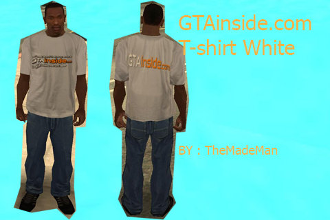 GTAinside.com White T-shirt