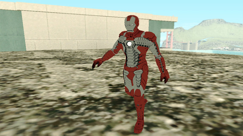 GTA San Andreas Marvel Heroes - Iron Man (Mk5) Mod