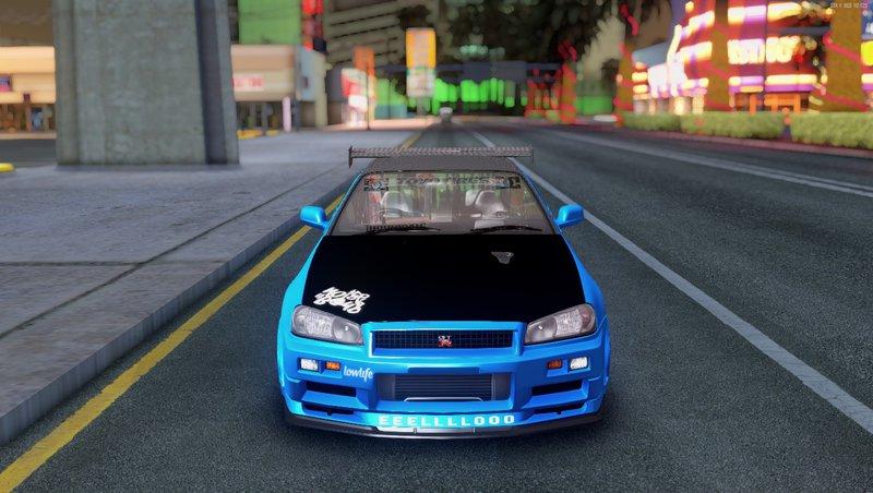 GTA San Andreas 2002 Nissan Skyline R34 GTR VSpec II STune Mod