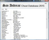 GTA SA Cheat Database 2015