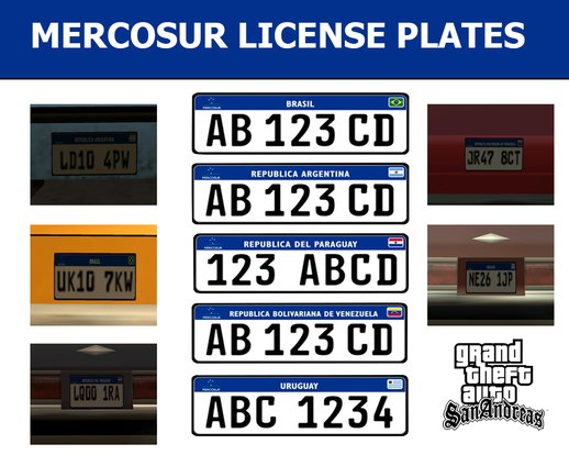Mercosur License Plates