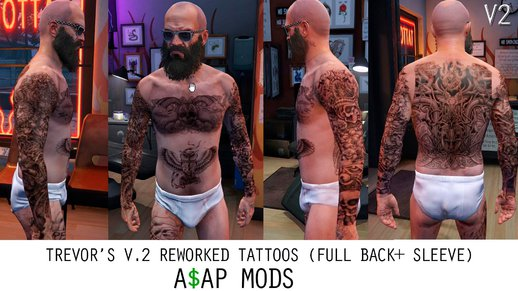 HD Tattoos For Trevor Franklin And Michael V1.8