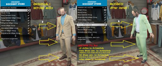 Trevor New Cheap Suits Mod