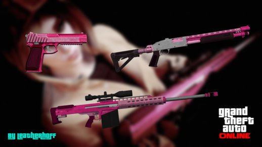 Pink Weapons Pack from GTA V PC #1