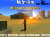 AutoSave Screen For GTA SA