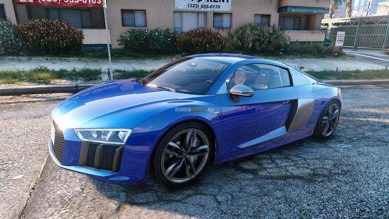 GTA Audi R V AddOn Replace Mod GTAinsidecom - Audi car gta 5
