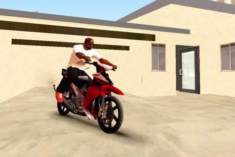 Gta San Andreas Yamaha 125zr Merah Mod Gtainside Com