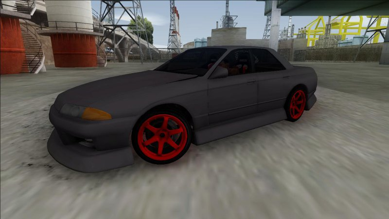 gta san andreas nissan skyline r32 4 door drift mod gtainside com