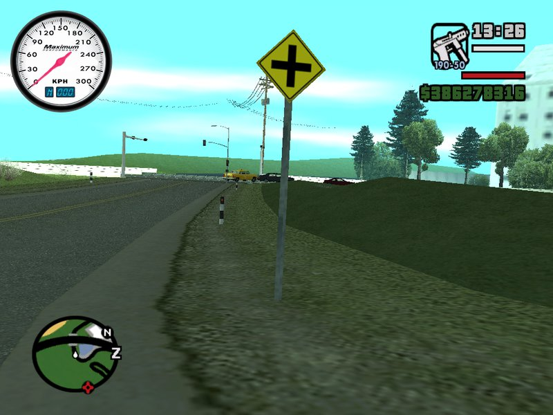 gta san andreas missionary hill hd road warning signs mod. Black Bedroom Furniture Sets. Home Design Ideas