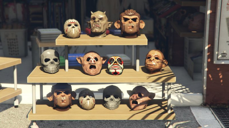 gta online how to put mask on