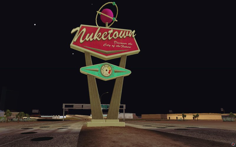 Ford Lobo 2016 >> GTA San Andreas Welcome to Nuketown 2025 Sign from Black ...