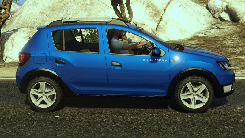 Dacia Sandero Stepway 2014 для GTA V - Скриншот 1