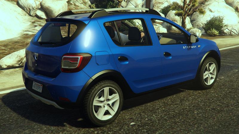 Dacia Sandero Stepway 2014 для GTA V - Скриншот 2