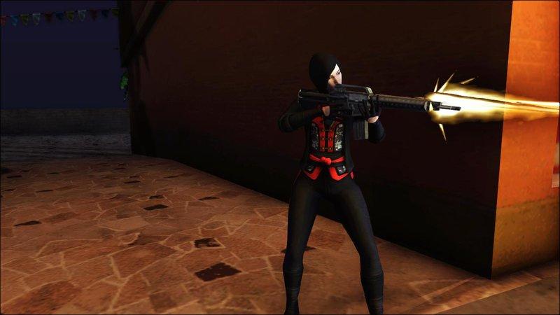 GTA San Andreas Batman Arkham Origins Lady Shiva Mod