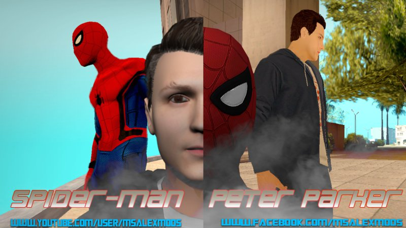 GTA San Andreas Spider-Man and Peter Parker Civil War Mod