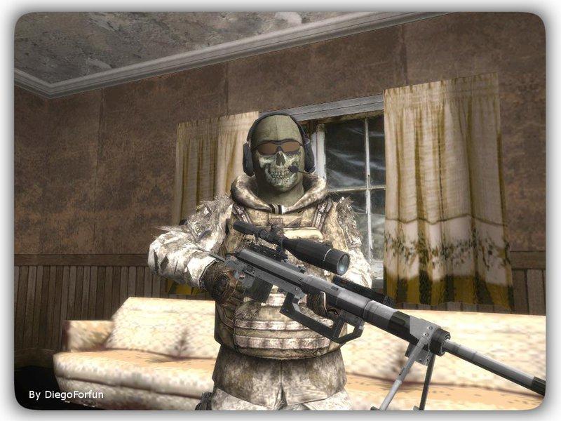 Gta San Andreas Cod Mw2 Ghost Sniper Desert Camo Mod