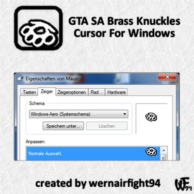 GTA SA Brass Knuckles Cursor For Windows