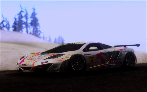 McLaren MP4-12C Pacific Racing With Racing Miku 2016 Livery