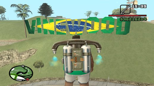 Vinewood Sign Brazilian Flag