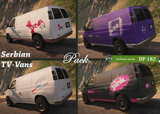 Serbian TV Van - [skin pack]