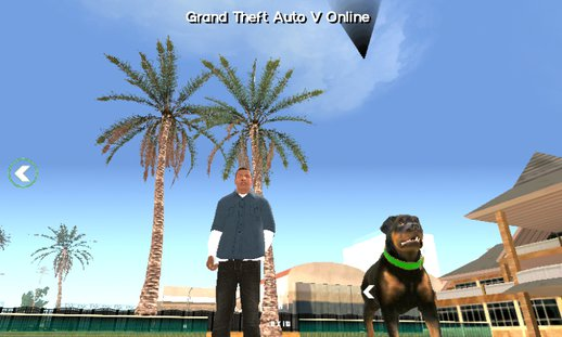 GTA V Franklin Dog(Chop) Mod for SA Mobile