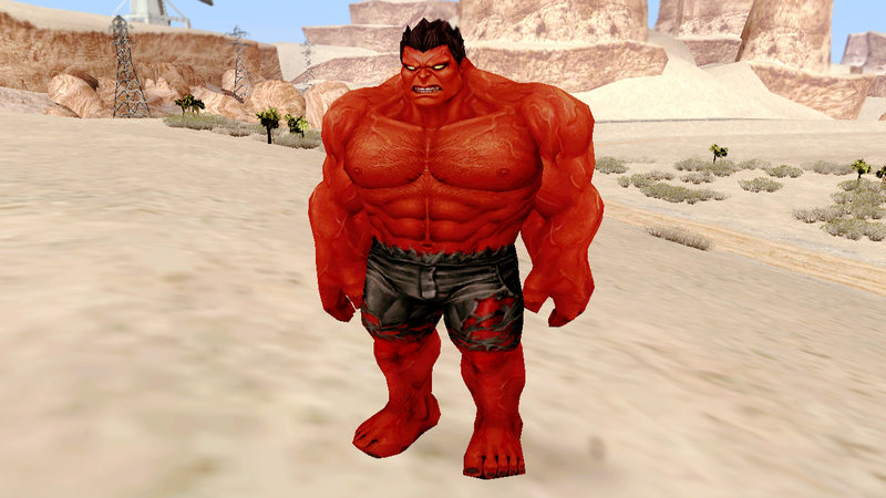 Gta San Andreas Marvel Future Fight Red Hulk Mod
